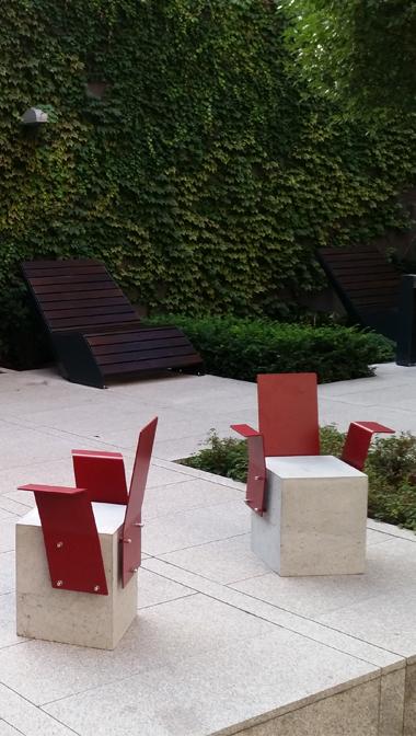 ZANO patio biurowe lezak duo cblock stal nierdzewna